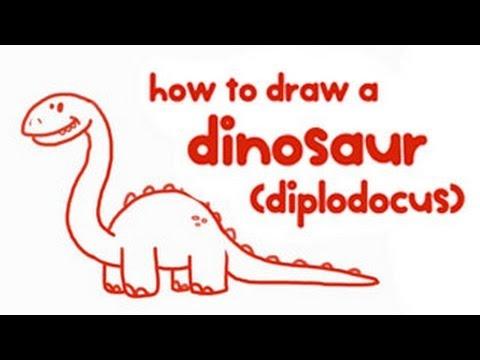 480x360 How To Draw A Dinosaur (Step By Step) Mocomi Kids