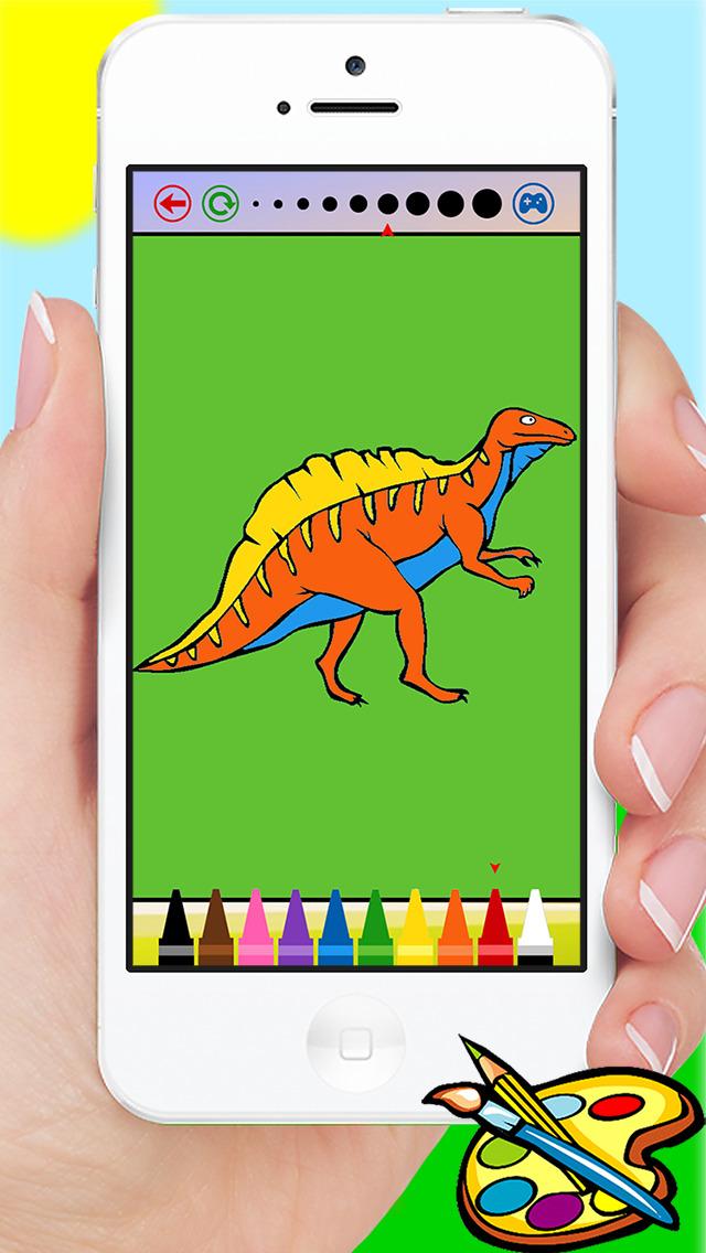 640x1136 Dinosaur Coloring Book