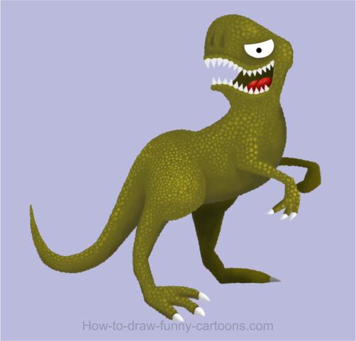 502x482 Dinosaur Drawing (Cartoon Painting)