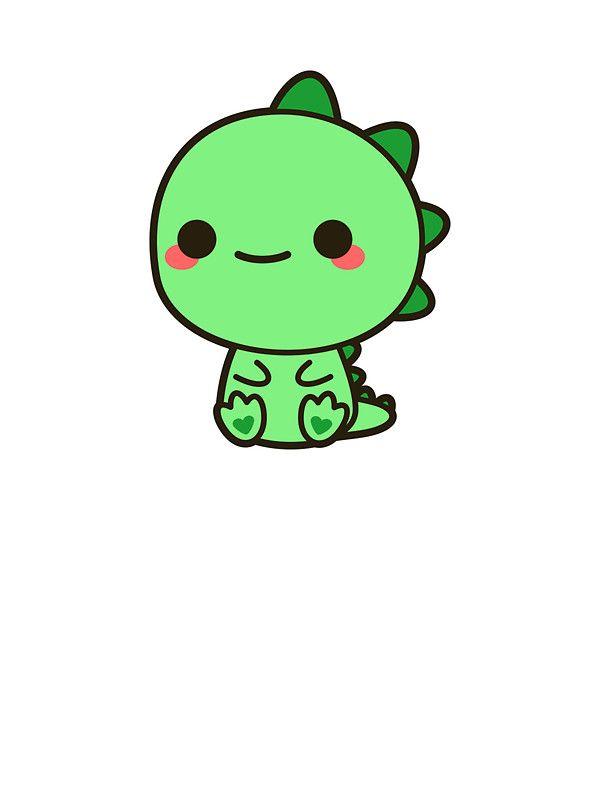 600x800 Kawaii Dinosaur' Sticker By Peppermintpopuk Kawaii, Drawings