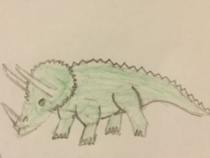 670x503 5 Ways To Draw Dinosaurs