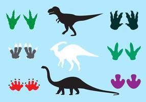 286x200 Dinosaur Footprint Free Vector Art