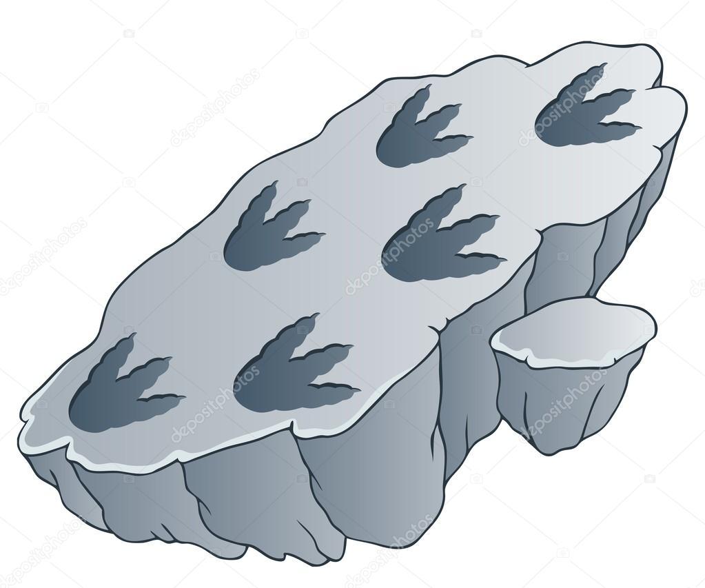 1023x853 Rock With Dinosaur Footprints Stock Vector Clairev