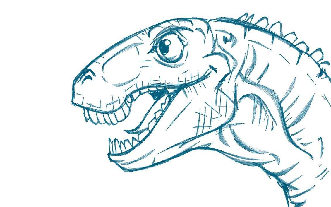 1131x707 Dino Head 4 By Stroggtank