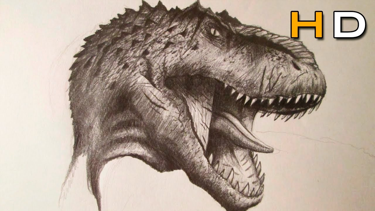1280x720 How To Draw A Realistic Dinosaur With Pencil Step By Step
