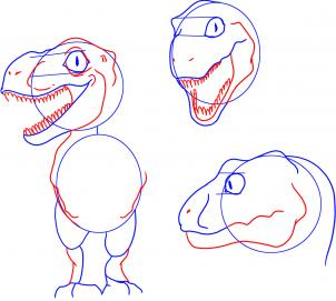 302x271 How To Draw How To Draw A Baby Dinosaur