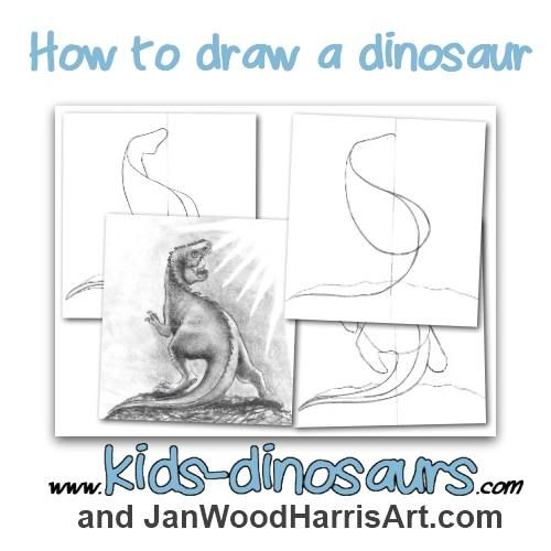 500x500 How To Draw A Dinosaur Step By Step For Kids Drawings