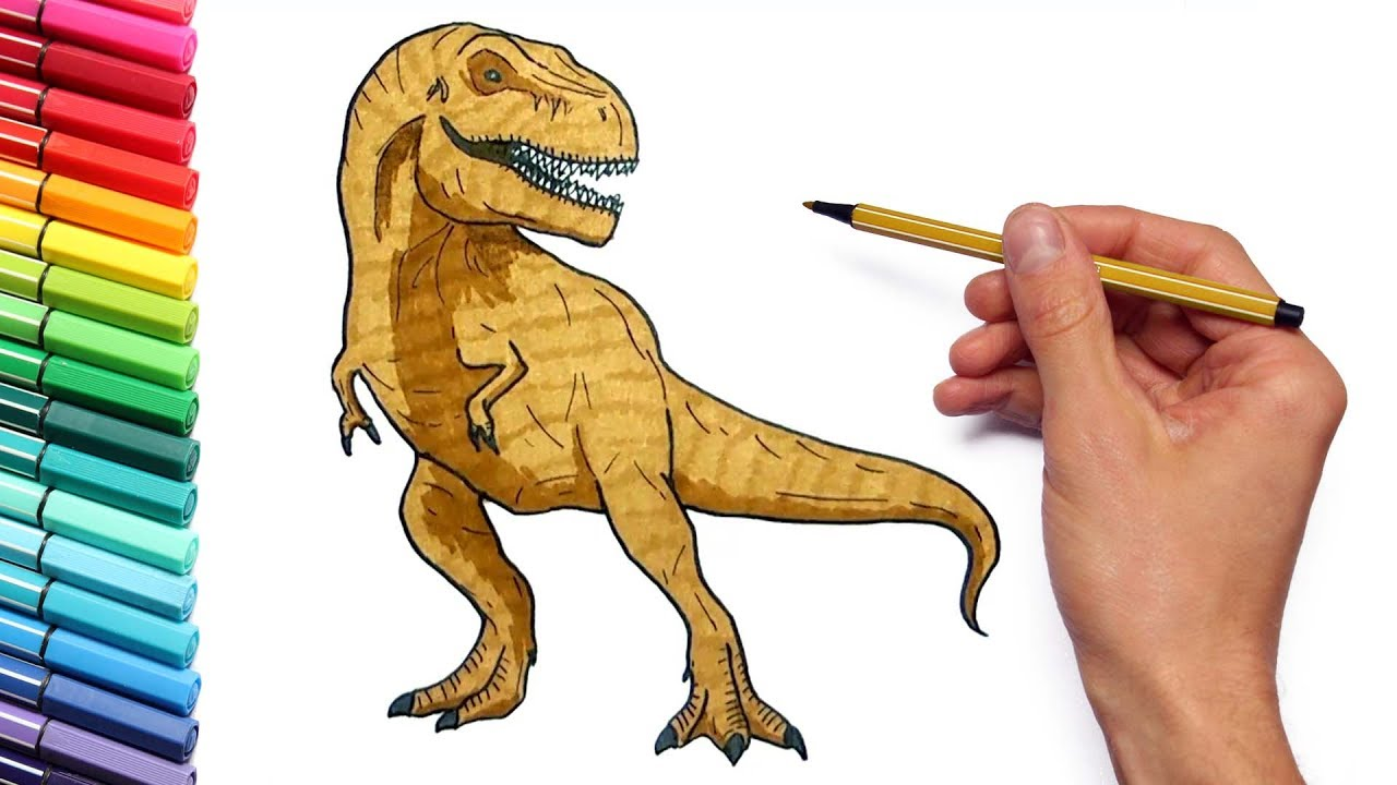 1280x720 Drawing And Coloring T Rex