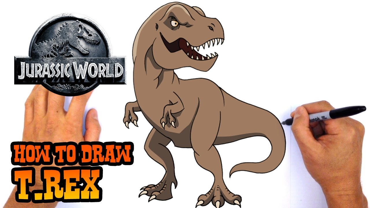 1280x720 How To Draw T Rex Jurassic World