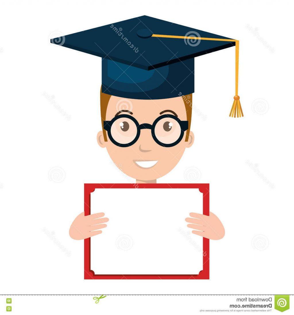 1024x1095 Best Hd Student Character Hat Graduation Diploma Vector