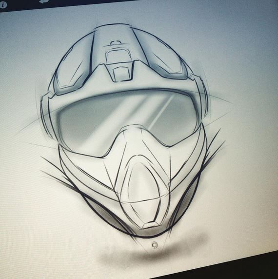 570x572 Dirt Bike Helmet Concept Sketch By Nick Chubb Around The World
