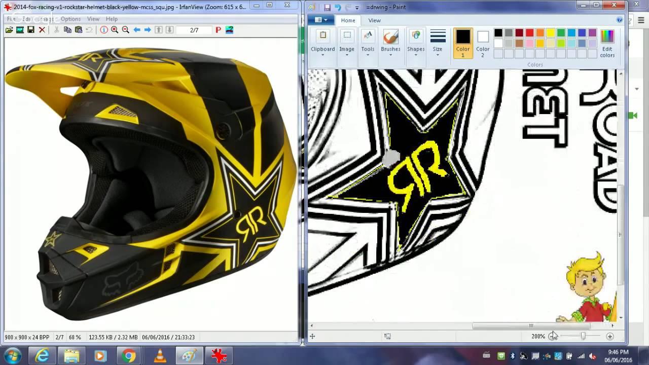 1280x720 Drawn Motorcycle Dirt Bike Helmet