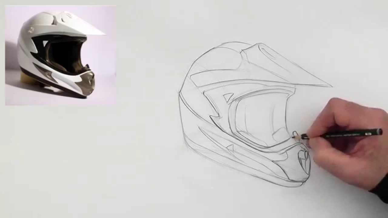 1280x720 Drawing A Helmet (Slow Version)