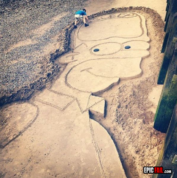 594x598 Homer Simpson Dirt Drawing Win Neat Homer Simpson