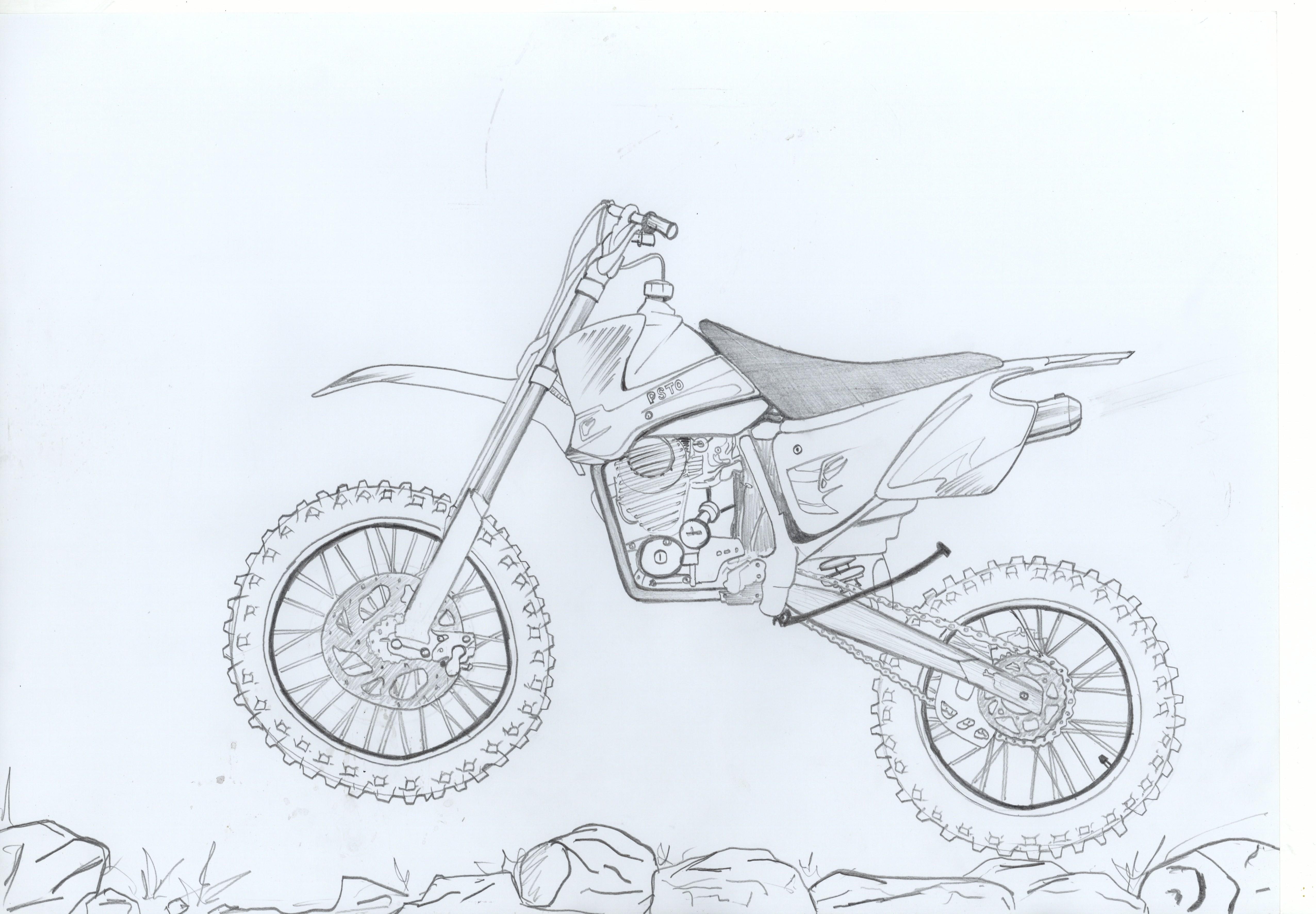 5104x3544 Dirt Bike Drawing Dirt Bike Drawings Bike Drawing