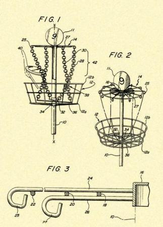 323x448 Disc Golf Goal Target 1988 Us Patent Art Print S020 Disc Golf