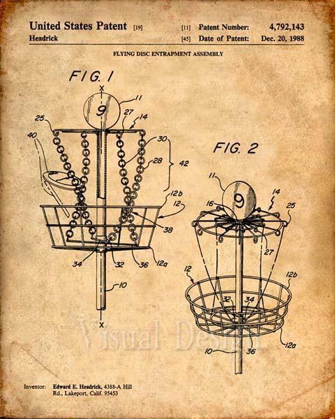 480x600 Disc Golf Patent Print Patent Art Print Patent Poster