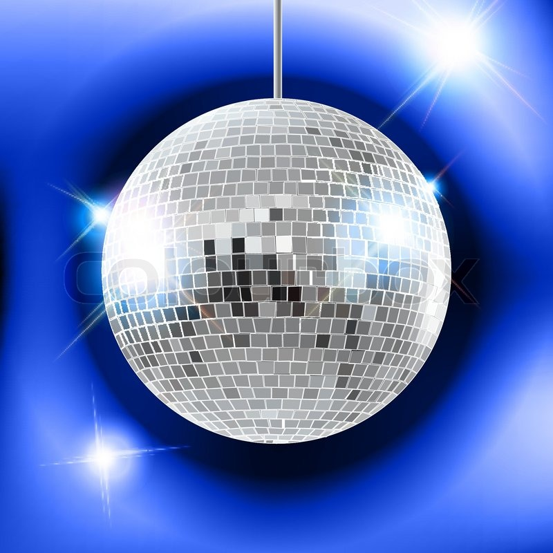 800x800 Mirror Disco Ball Vector Illustration Eps10. Transparent Objects