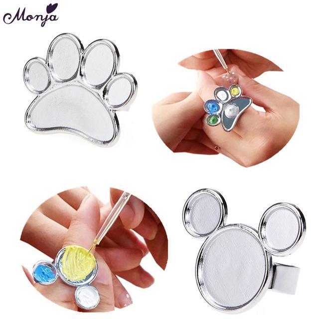 640x640 1pcs Mini Nail Art Metal Finger Ring Palette Dish Acrylic Uv Gel