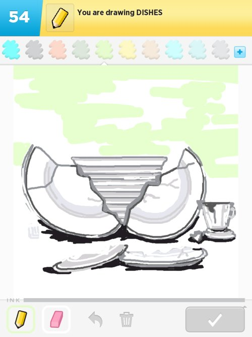 500x667 Dishes Drawings