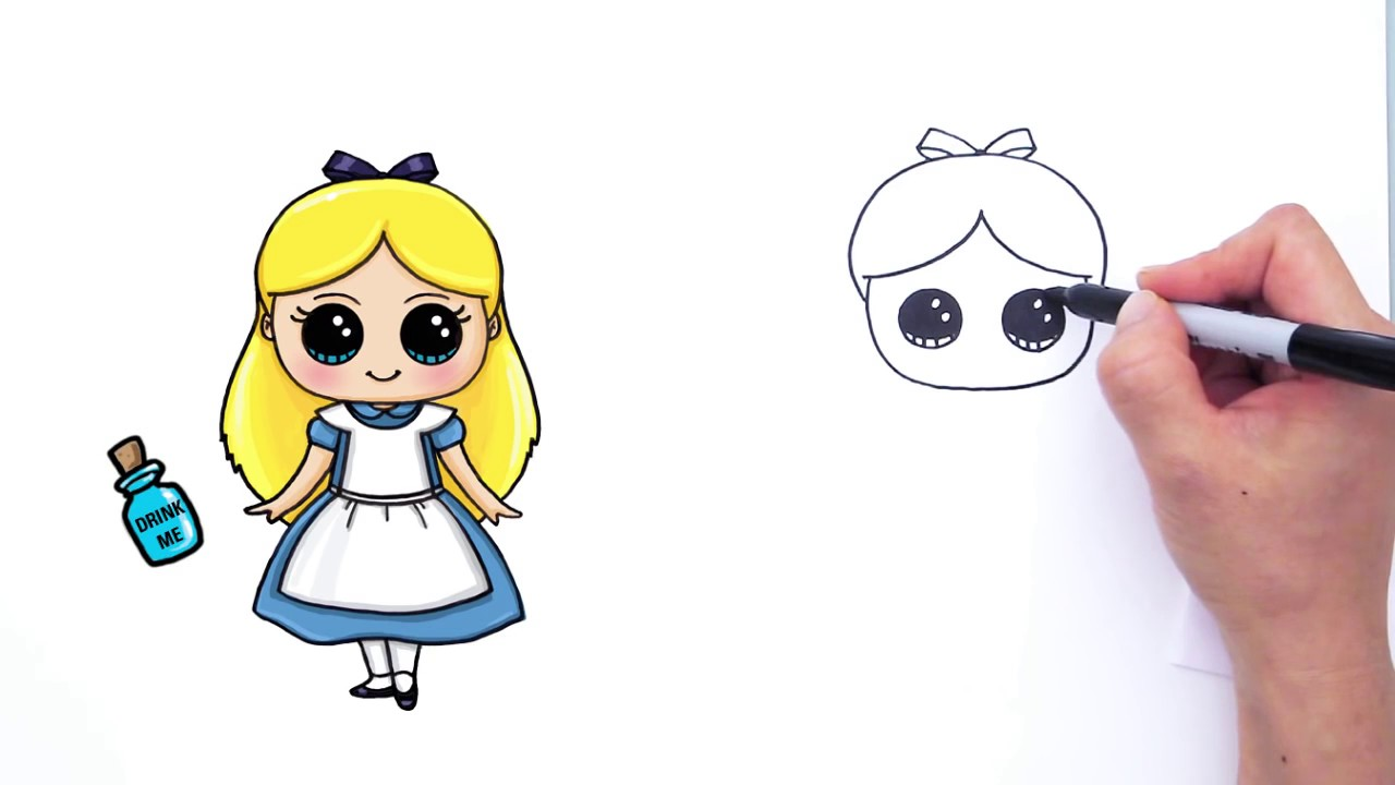 1280x720 How To Draw Alice From Disney Alice In Wonderland Cute Step By