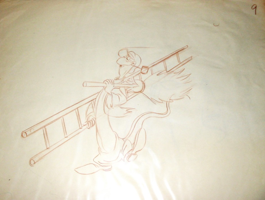 921x696 Original Walt Disney Layout Drawing Of Bill The Lizard From Alice