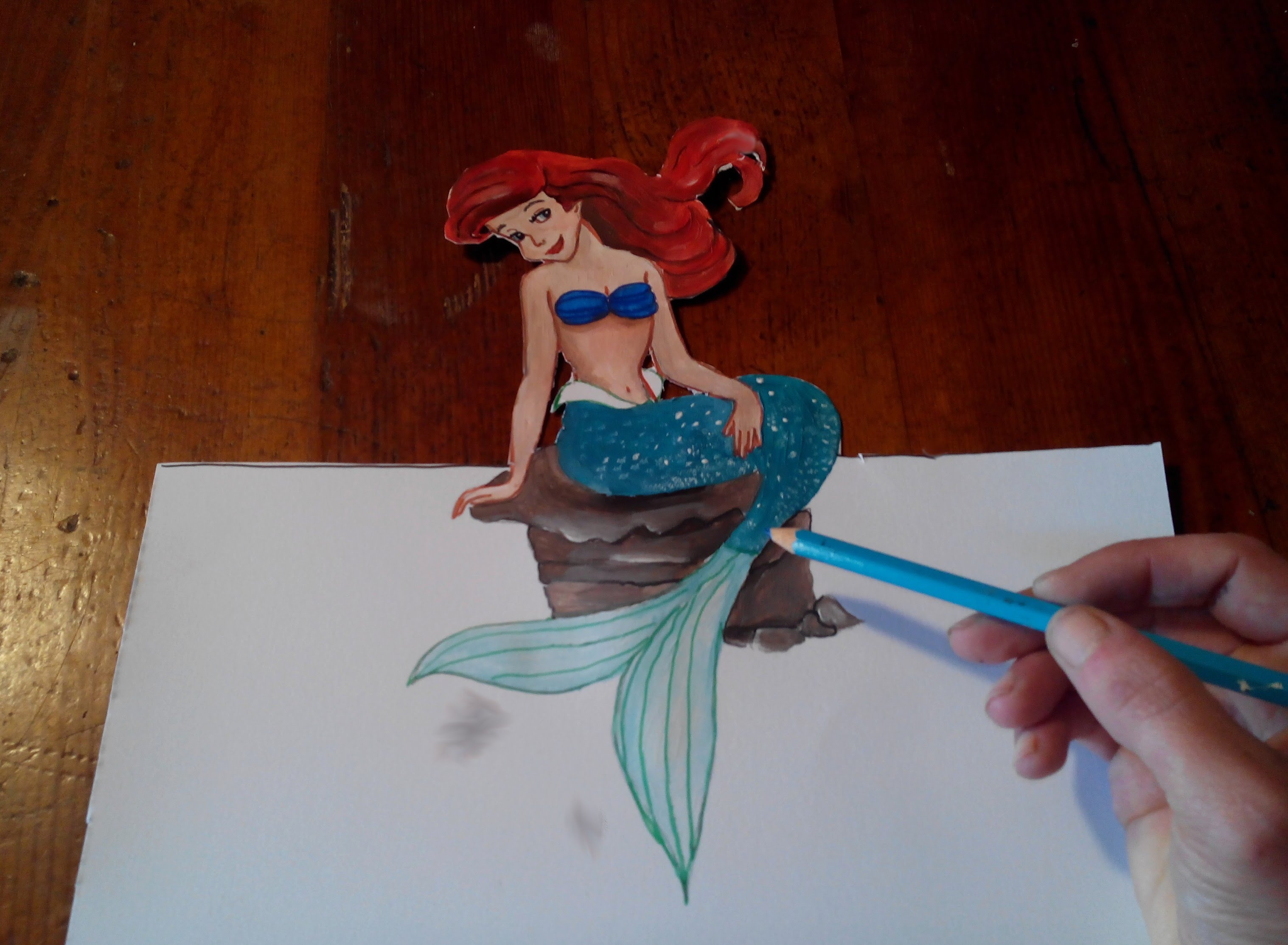 3035x2227 Ariel The Little Mermaid Drawing How To Draw Ariel The Little