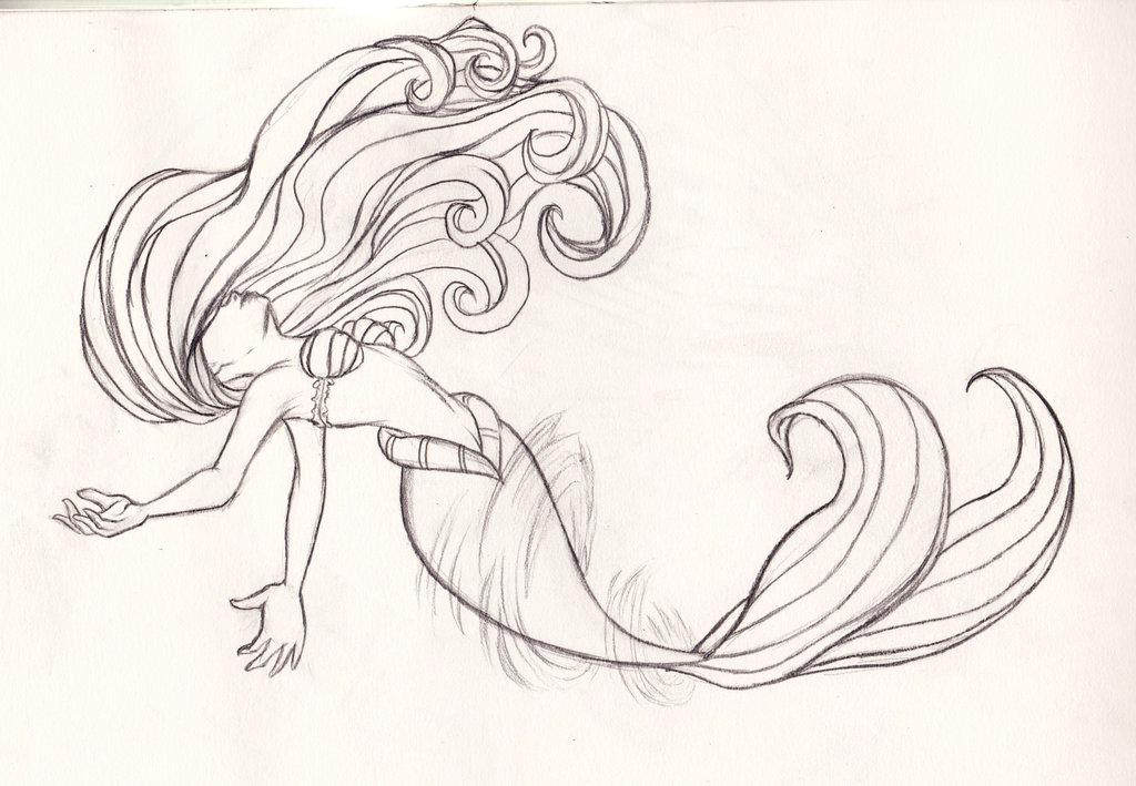 1024x709 Disney Ariel Transformation Sketch By Kimberly Castello