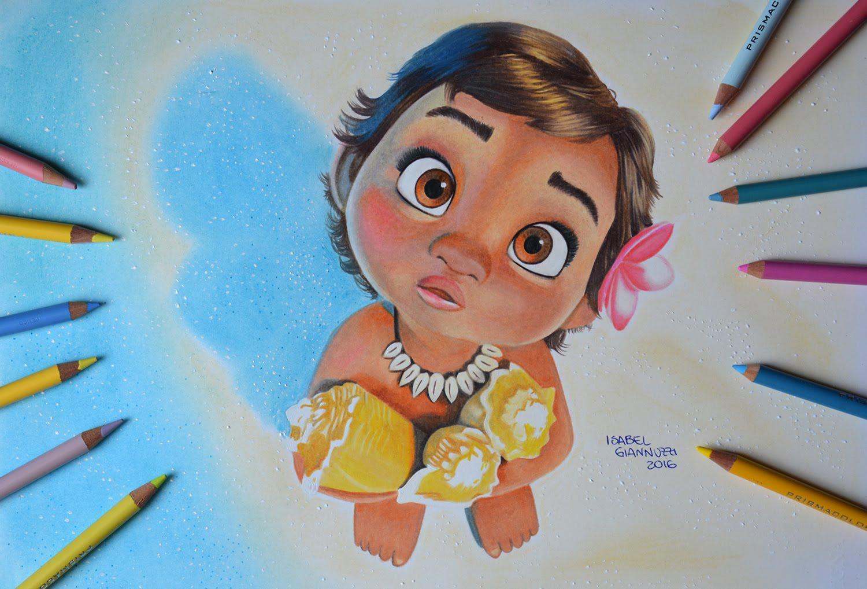 1500x1018 Baby Moana Drawing