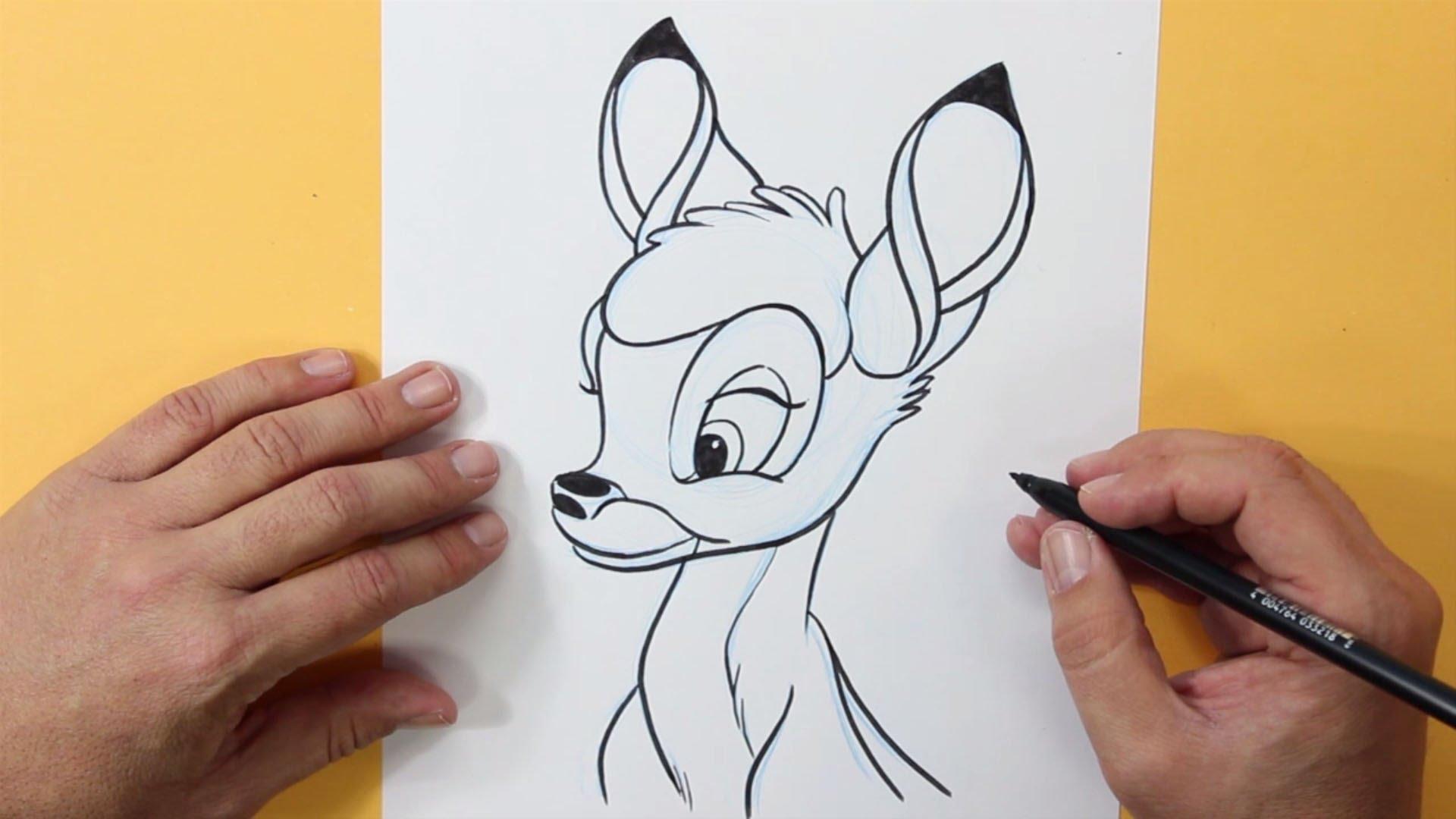 1920x1080 Dibujar A Bambi (Disney)