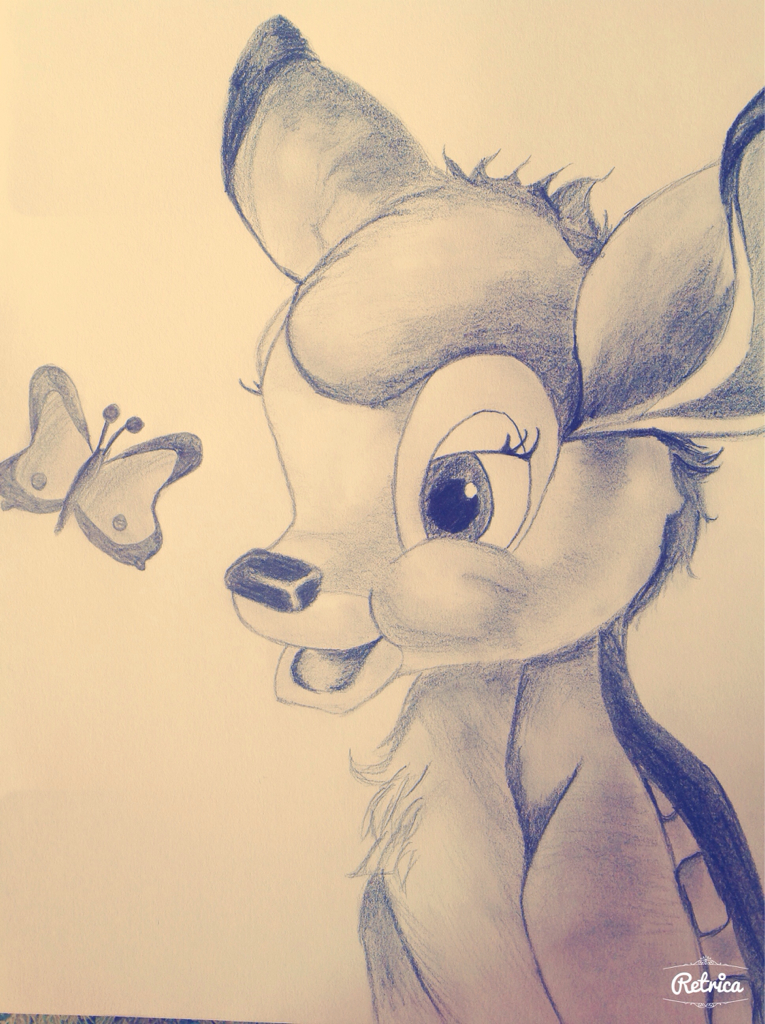 765x1024 Draw Paint Drawing Bambi Disney Love Sweet Beuatiful Cool