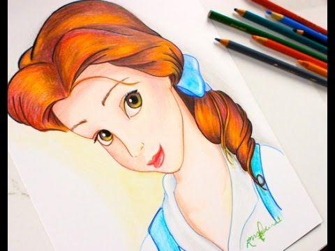 480x360 Drawing Princess Belle Beauty And The Beast Budget Art
