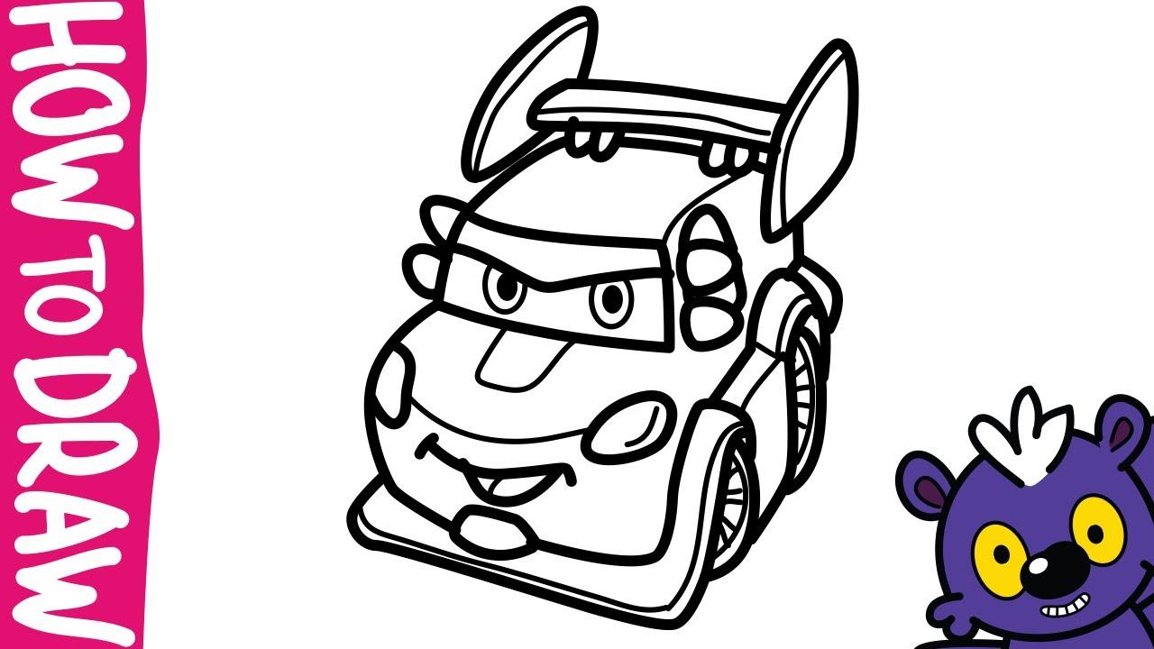 Full Color Drawing Pics 1 1280x720 DJ 1500x840 How To Draw Lightning McQueen Cars Disney Pixar