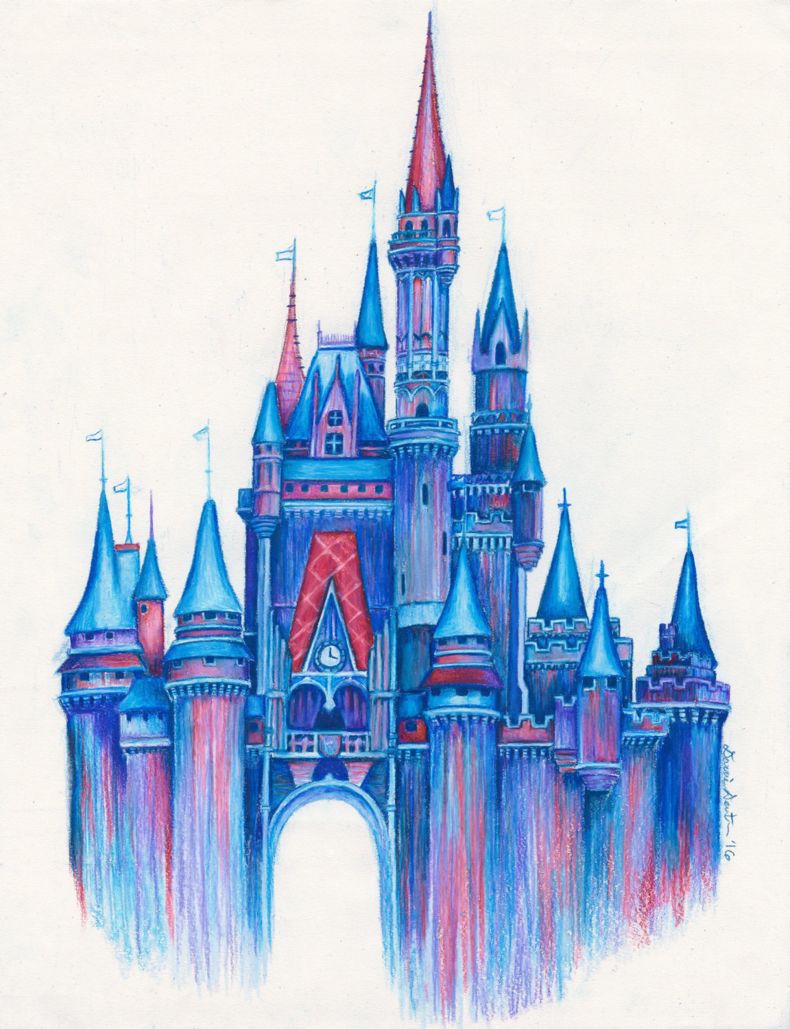 disney castle drawing at getdrawings com free for personal use
