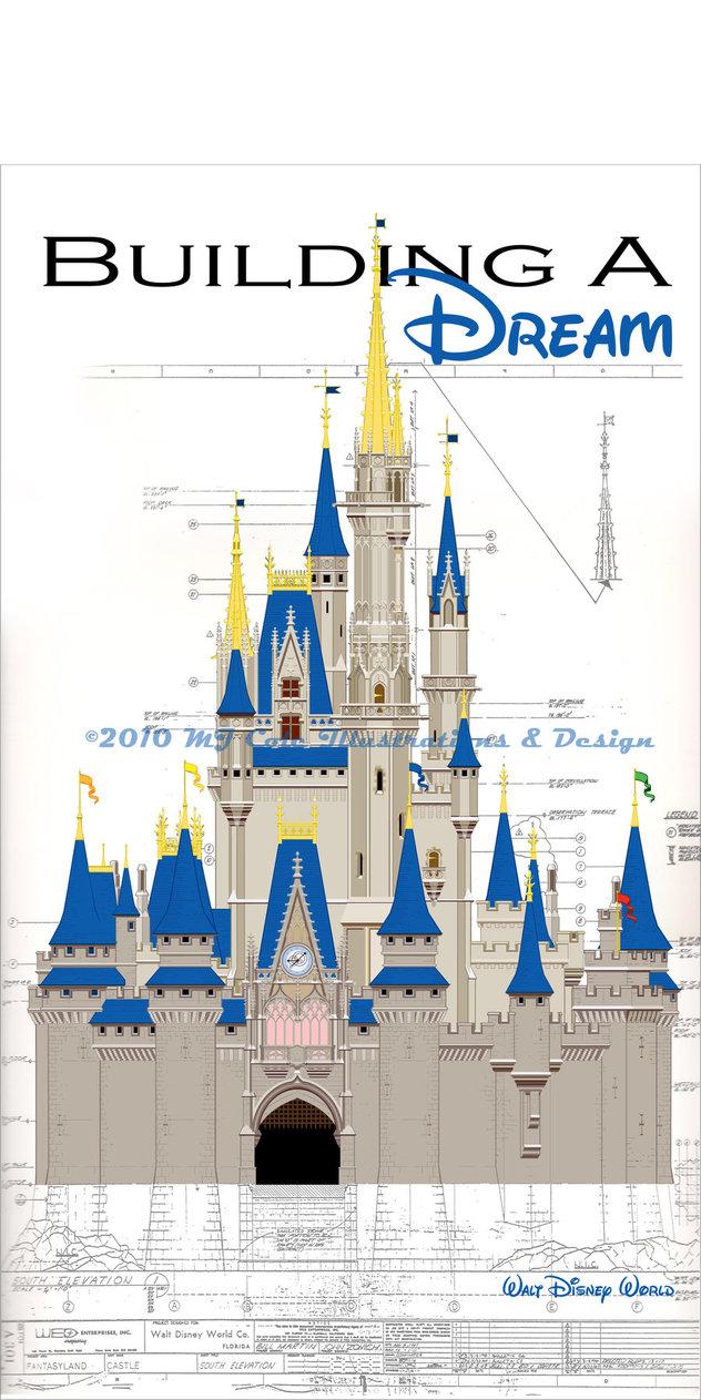 632x1263 Disney World Castle Drawing Walt Disney World Castle By Mjcole