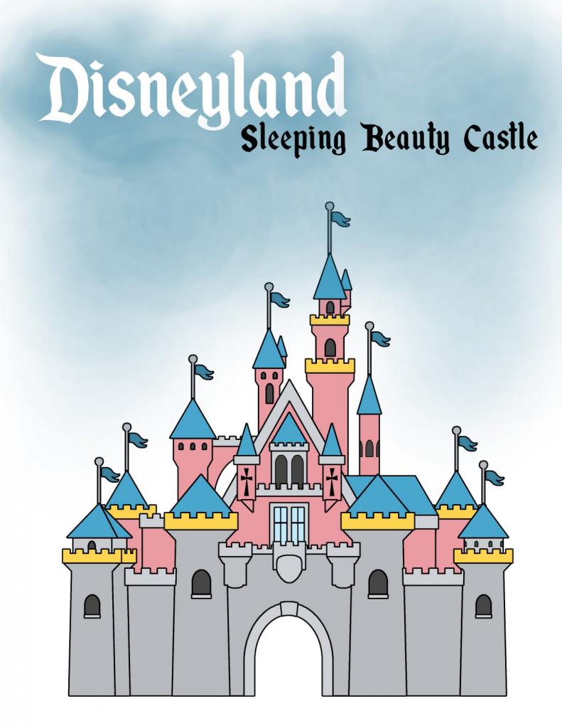 791x1024 Disneyland Castle Drawing Disney Castle Drawing Sleeping Beauty