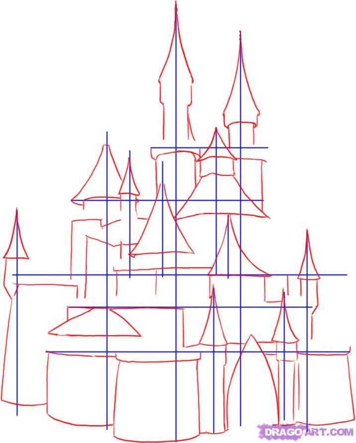 717x892 How To Draw A Medieval Castle Step 2 How To Draw