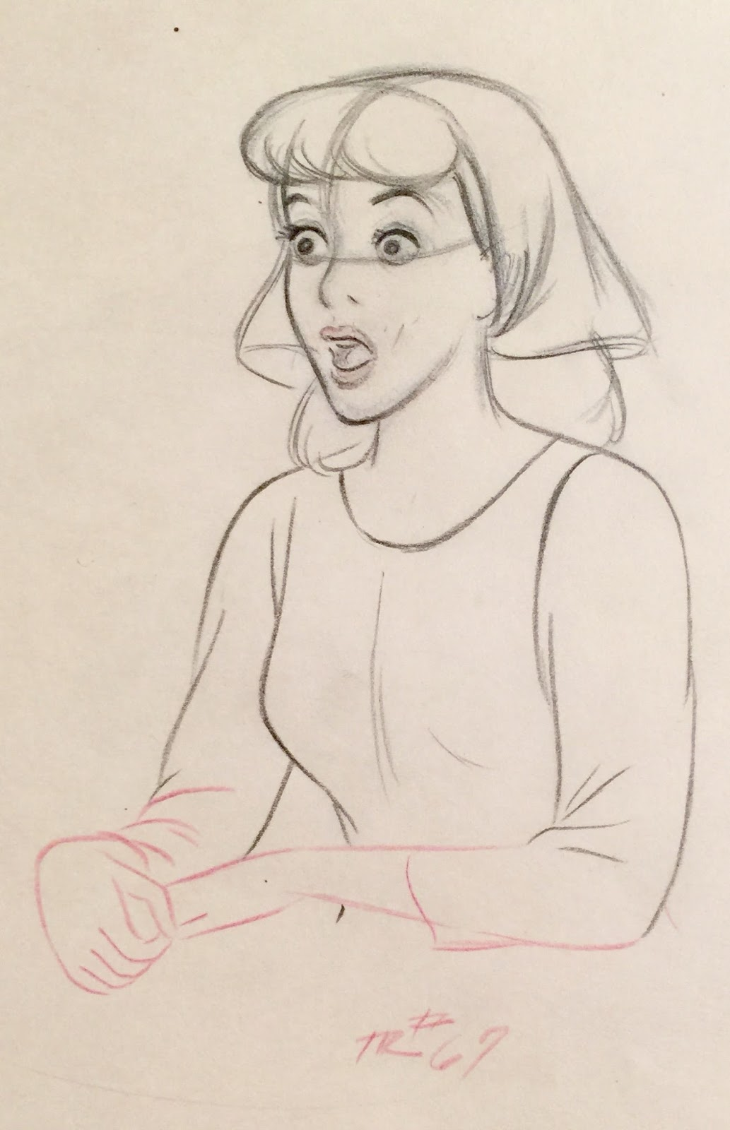 1033x1600 Animation Collection Original Production Drawing Of Cinderella