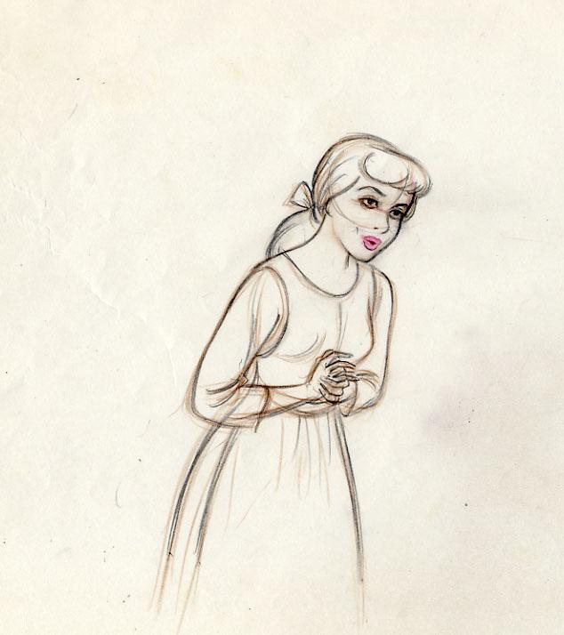 634x714 Disney Cinderella Eric Larson Disney Art Amp Animation