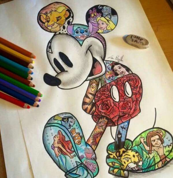 599x616 Disney Collage Body Art Disney Collage And Collage