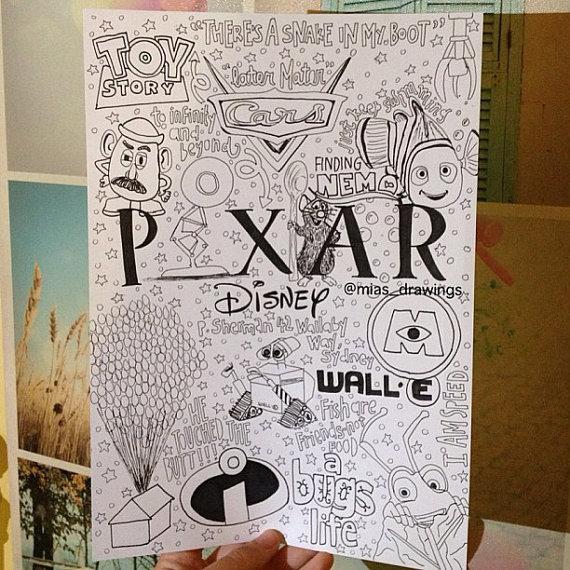 570x570 Pixar Collage. This Is Amazing. Disney Collage