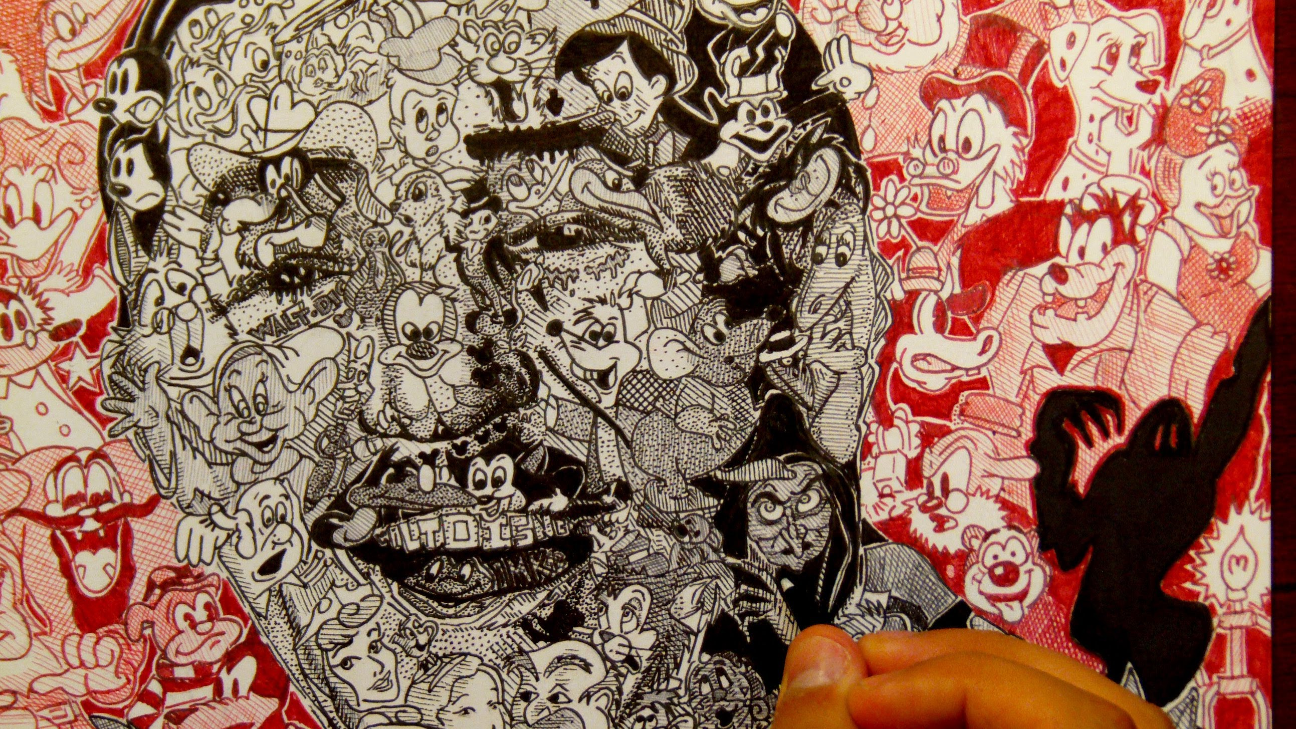 2586x1455 Drawing Walt Disney With Over 100 Disney Characters