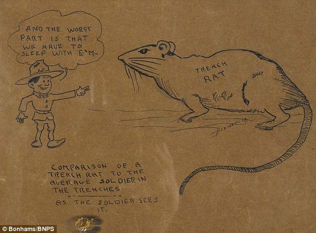 634x468 First World War Sketches By Walt Disney Showing