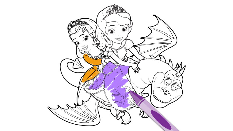 800x450 Sofia The First The Curse Of Princess Ivy Coloring Page Crafts