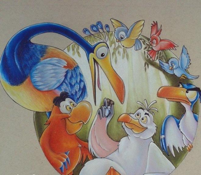 660x576 15 Beautiful Disney Color Pencil Drawings By Anna Maria Teresa