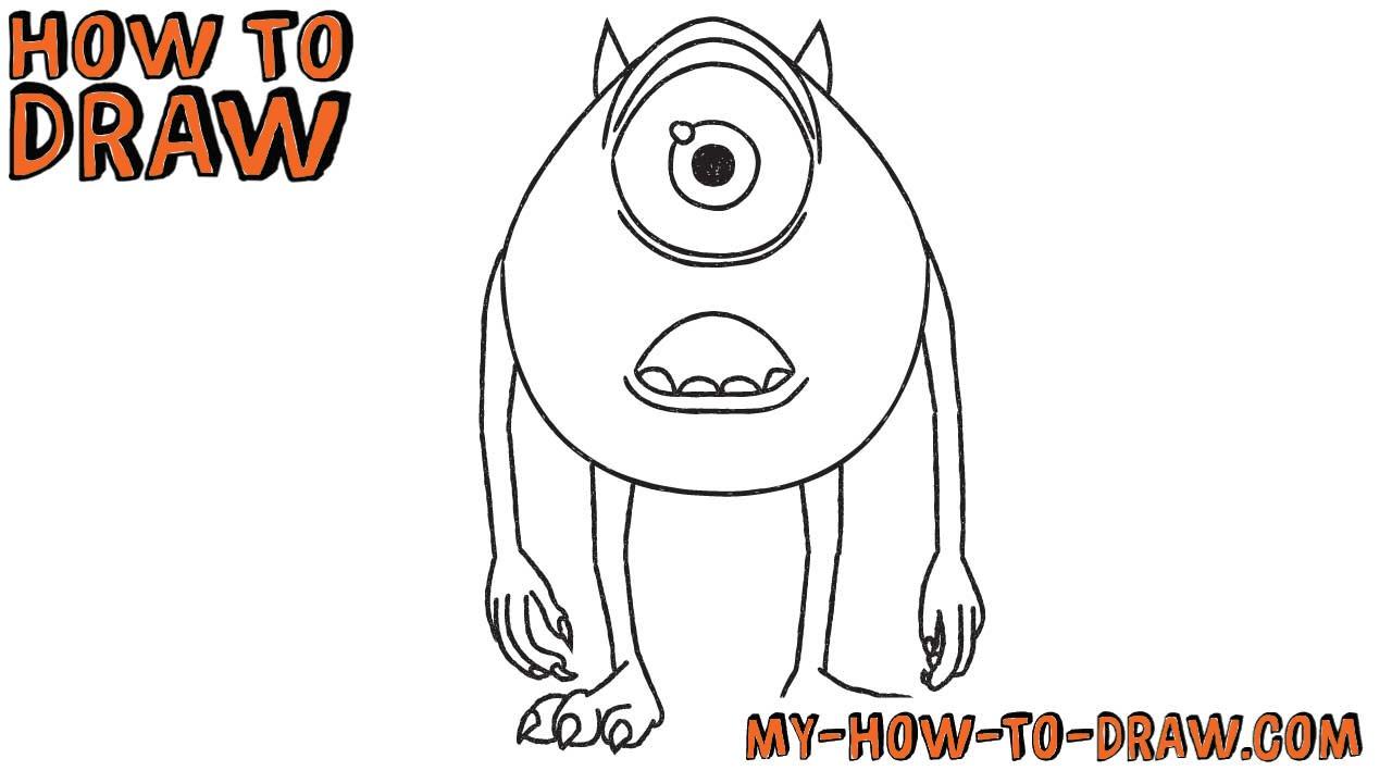 1280x720 How To Draw Mike Wazowski Disney Pixar Monsters