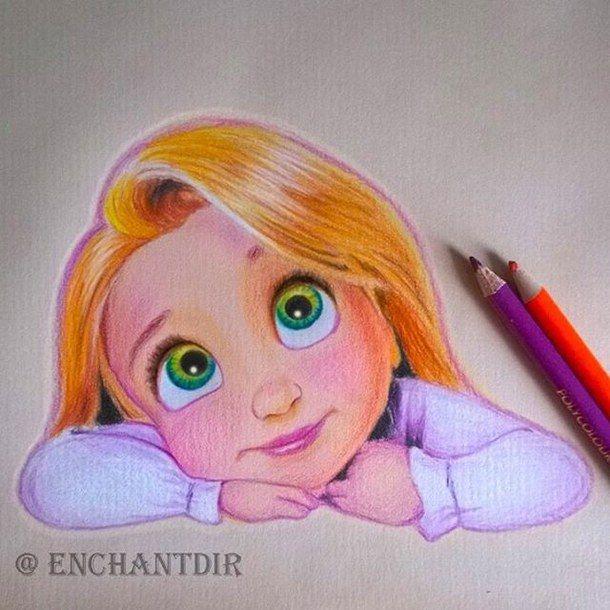 610x610 Art, Colored Pencils, Disney, Drawing, Princess, Rapunzel Art