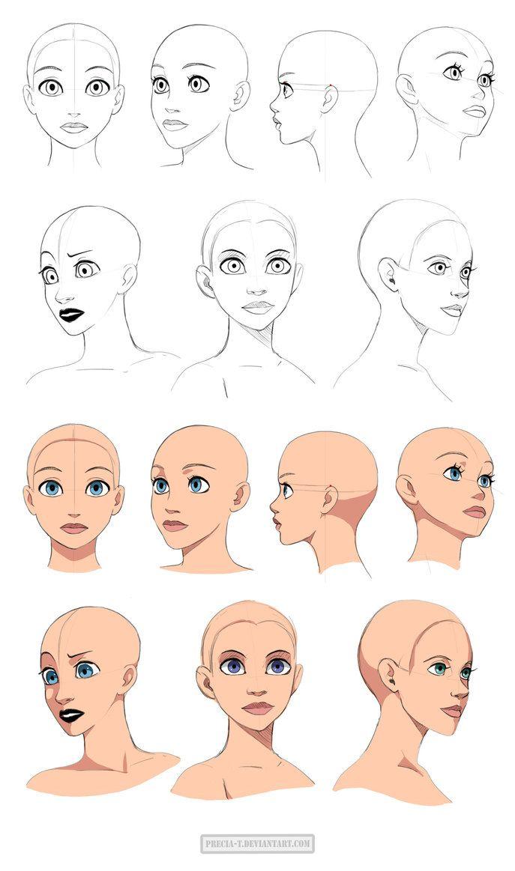 687x1163 Disney Style Head Tutorials Httpprecia