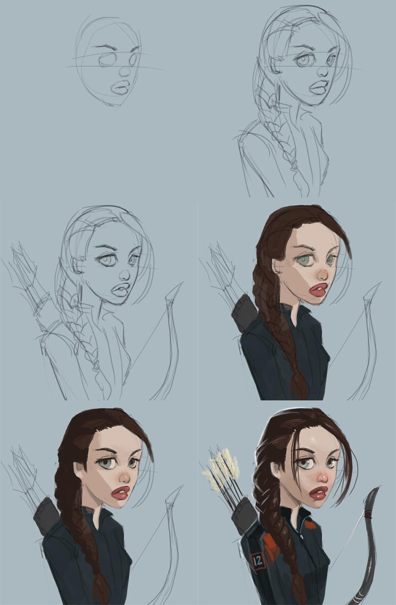 800x1221 How To Draw Katniss Everdeen Disney.jpg Draw Disney