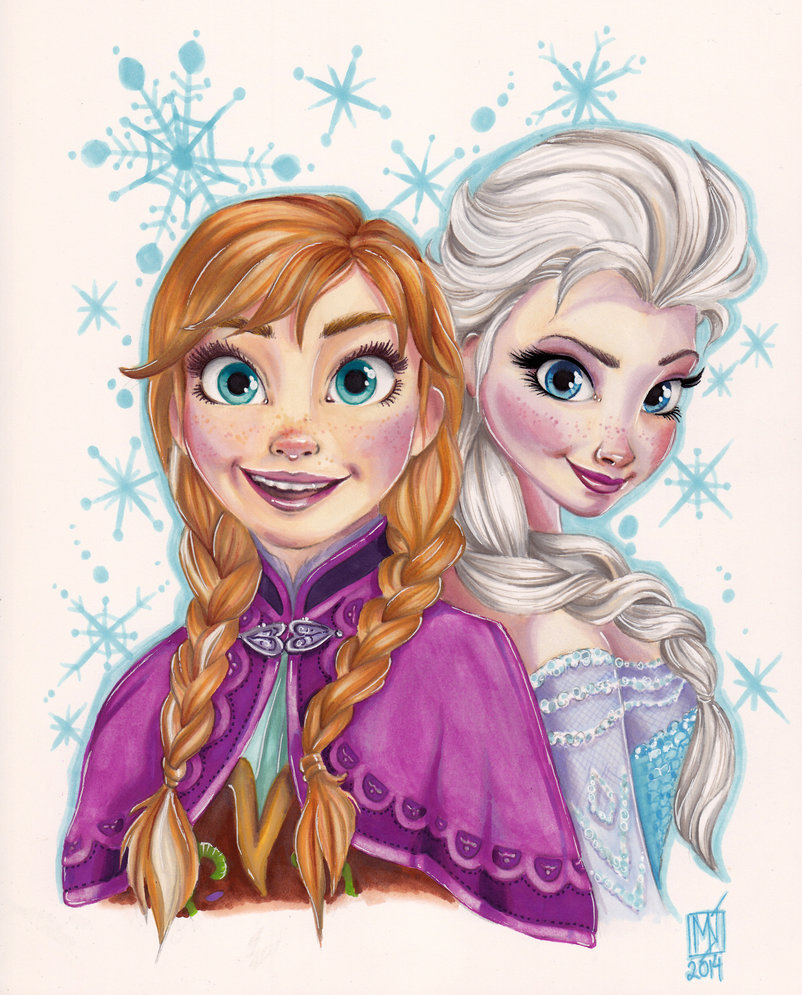 802x995 Anna And Elsa